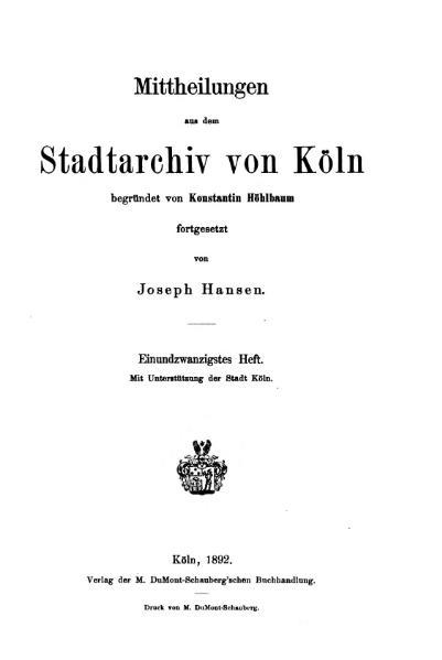 File:Mitteilungen aus dem Stadtarchiv von Köln 1892-21.djvu