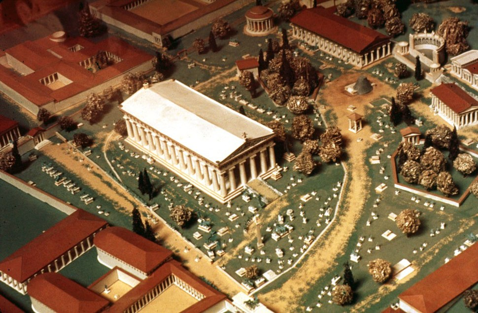 Model of ancient Olympia