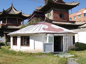 Architecture of Mongolia - Early-20th-century yurt-shaped temple