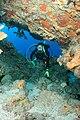 Monito diver in cave.jpg