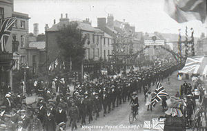 Monnow Street - Image: Monnow street showing a procession after WW1