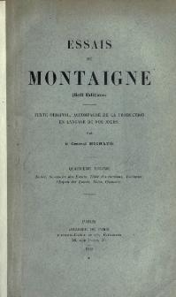 summaries essays montaigne Guide to the classics: michel de montaigne's essay nietzsche claimed that the very existence of montaigne's essays added to the joy of living in this world.