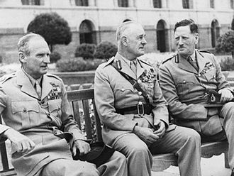 British Army during the Second World War - Left to right Bernard Montgomery, Archibald Wavell and Claude Auchinleck who all rose to prominence during the war, pictured here in June 1946.