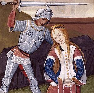 Polyxena - A Renaissance illustration of the killing of Polyxena in Boccaccio's De mulieribus claris