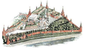 Moscow Kremlin map - The Church of St. Ioann Lestvichnik and the Ivan the Great Bell Tower.png