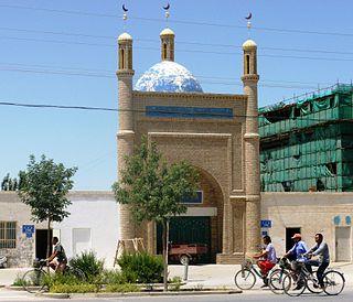 Ruoqiang Town Town in Xinjiang, China