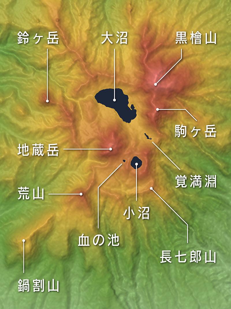 山頂部地形図