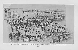 Mount Holyoke College - Mount Holyoke in 1887