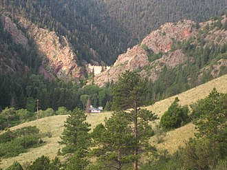 Cimarron River (Canadian River tributary) - Mountain valley at Cimarron Canyon State Park.