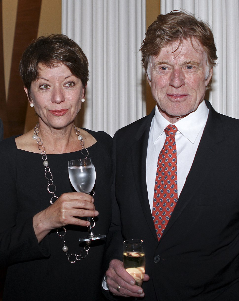 Mrs Sibylle Szaggers Redford and Robert Redford