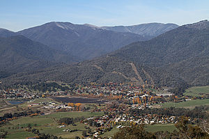Mount Beauty, Victoria - Mount Beauty township from Sullivans Lookout