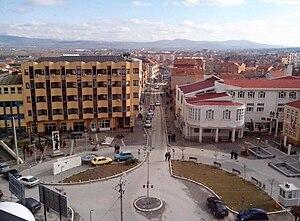 Preševo - Image: Municipal square Preševo, Serbia