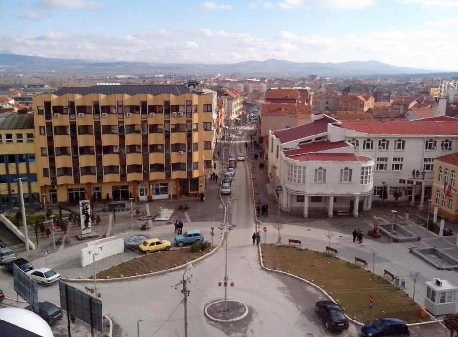 Municipal square Preševo, Serbia