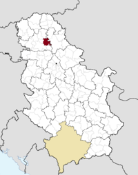 Location of the municipality of Žabalj within Serbia