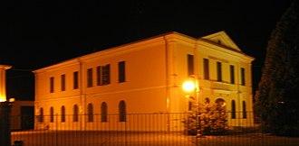 Mezzani - Town hall by night