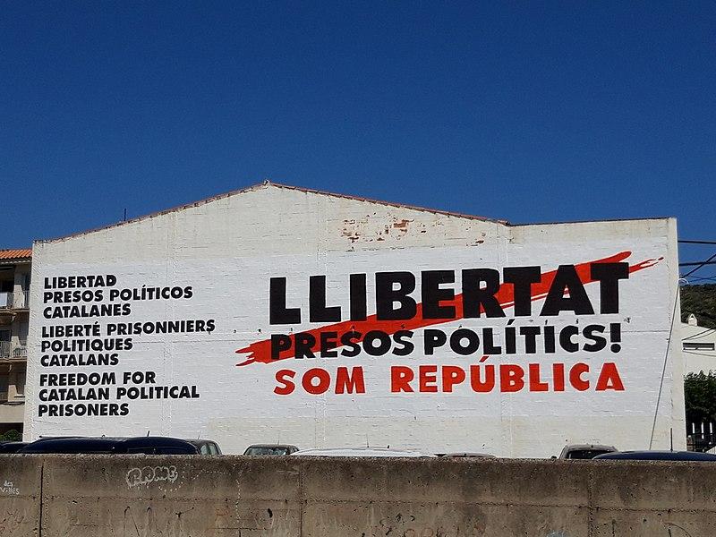 File:Mural Llibertat presos polítics at Cadaqués.jpg