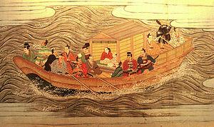 Muromachi period - A ship of the Muromachi period (1538)