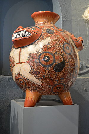 Ceramics of Jalisco - Large ceramic container at the Museo Nacional de la Cerámica in Tonalá, Jalisco