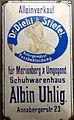 Museum sächsisch-böhmisches Erzgebirge Reklametafel Schuhwaren.jpg