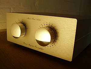 Preamplifier - An example of a typical high-end stereo preamplifier.