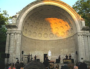 "Musik im Bauch - Section II: ""The whistling, whipping, and hissing of the switches cleans the air of evil spirits"" (Iktus Percussion at the Naumburg Bandshell, Central Park, New York City, Thursday, 21 June 2012)"