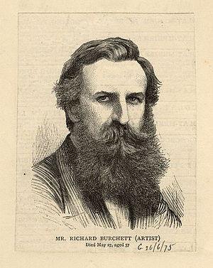 Richard Burchett - Portrait published 1875, after an unknown artist