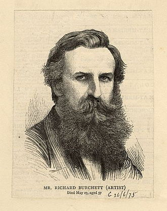 Richard Burchett - Portrait published 1875, after an unknown artist