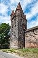Nürnberg, Stadtbefestigung, Frauentormauer, Mauerturm Rotes M 20170616 001.jpg
