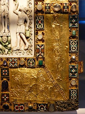 Codex Aureus of Echternach - Detail of the cover
