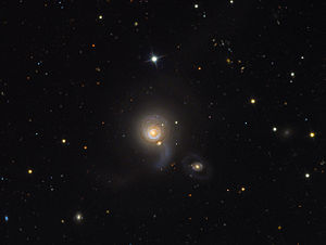 NGC 5614 - NGC 5614 (largest galaxy) and NGC 5613 and NGC 5615