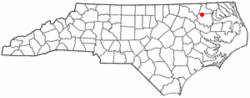 Location of Aulander, North Carolina