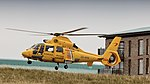 NHV Helicopters Netherlands Coastguard AS365 Dauphin cleared to land (35760885476).jpg