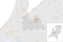 Locatie van de gemeente Soest (gemeentegrenzen CBS 2016)
