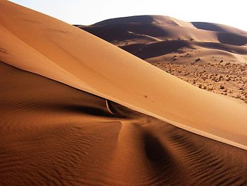 English: Sand dunes in Namib Desert, Namibia D...