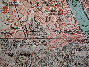 Gellért Hill - Naphegy and Tabán in Budapest 1905 Meyers Lexikon