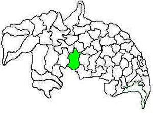 Narasaraopet mandal - Mandal map of Guntur district showing   Narasaraopet mandal (in green)