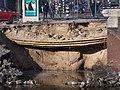 Nassauplein, Nassaukade gesprongen waterleiding kade weggeslagen foto 2.jpg