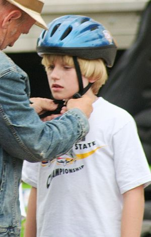 Nathan Gamble - Gamble on the set of 25 Hill at Baruth Raceway in Cleveland, July 2010