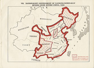 Republic of China (1912–1949) - Nationalist government of Nanking – nominally ruling over entire China during 1930s