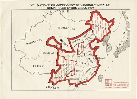 Nationalist government of Nanking - nominally ruling over entire China during 1930s Nationalist government of Nanking - nominally ruling over entire China, 1930 (2675972715).jpg