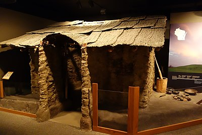 Replica Of A Mississippian House From Over 1000 Years Ago Excavated At The Aztalan Site