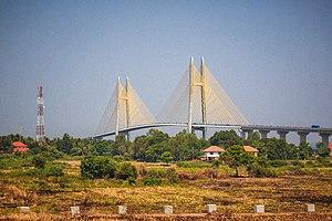 Neak Loeung Bridge - The finished bridge in 2015