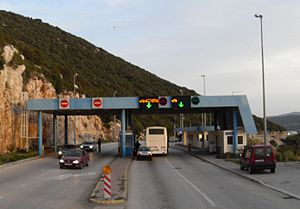 Neum - Border crossing from Croatia to Bosnia and Herzegovina, north of Neum