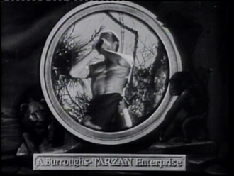 The New Adventures of Tarzan - Herman Brix posing for the Tarzan yell in the opening credits of the serial