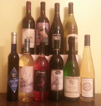 New Jersey wine - This is an assortment of New Jersey wines. New Jersey's 48 wineries produce wine from more than 90 varieties of grapes, and from over 25 other fruits.