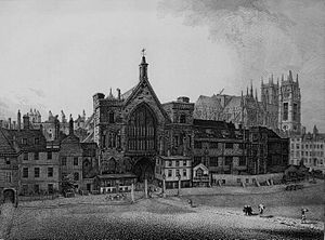 New Palace Yard - Image: New Palace Yard, 1807