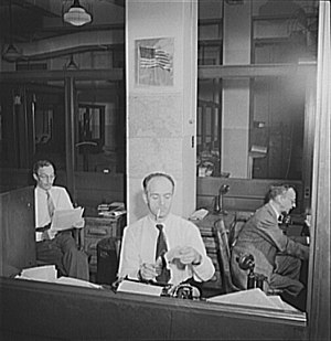 Print syndication - Office of The New York Times' news syndicate, circa 1942