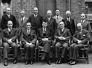 Alfred Cockayne - Members of the New Zealand Research Council with Cockayne standing second from the right, 1936