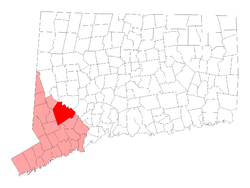 Localização no Condado de Fairfield (Connecticut)