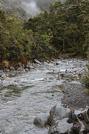 Ngaruroro River - Ngaruroro River in the Kaweka Range